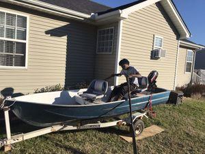 12 ft jon boat and trailer for Sale in La Vergne, TN