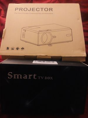 Bundle Deal Projector & TV Box 4K for Sale in Riverside, CA
