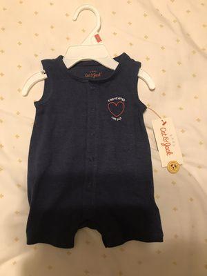 Baby boys Dad Romper-Cat& Jack blue(Newborn) for Sale in Los Angeles, CA