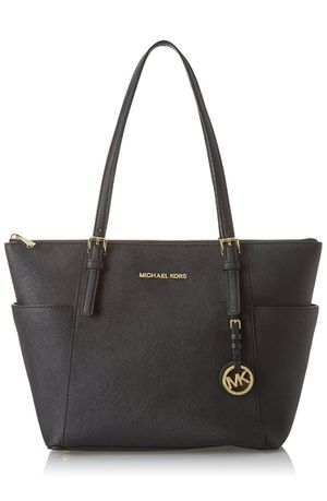 BEAUTIFUL BLACK MICHAEL KORS LEATHER TOTE BAG for Sale in Bakersfield, CA