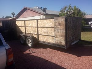 14 foot by 6 foot utility trailer double axle for Sale in Phoenix, AZ
