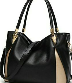 Large Black And Gold Accent Shoulder Bag for Sale in Sloan,  NV
