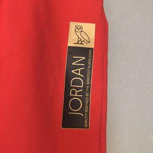 Nike Air Jordan x OVO Red Sweatpants Jogger for Sale in Fresno, CA
