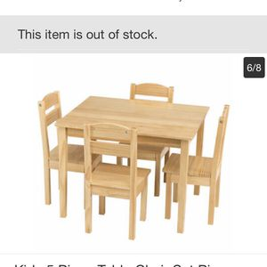 Kids 5 pieces Table And Chairs Set Pine Wood for Sale in Claremont, CA