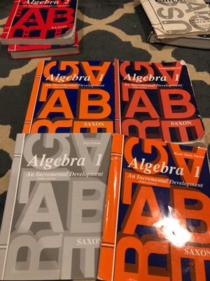 Saxon Algebra 1 + Solution manual + test forms + home study packet for Sale in Avondale, AZ