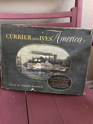 Currier and Ives' America 80 Color Prints by Colin Simkin Authentic Decorative Book 1952 for Sale in Henderson, NV