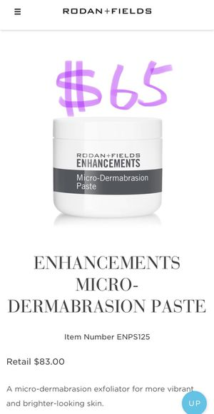 *NEW SEALED* Rodan and Fields ENHANCEMENTS MICRO-DERMABRASION PASTE for Sale in Arcadia, CA