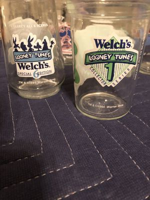 6 welches jelly collectible glass jars for Sale in Allentown, PA