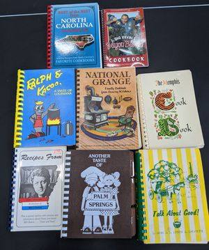 Vintage. 8 Southern food cookbooks. '80s. '90s. Treasures. Perfect for stay-at-home families for Sale in San Antonio, TX