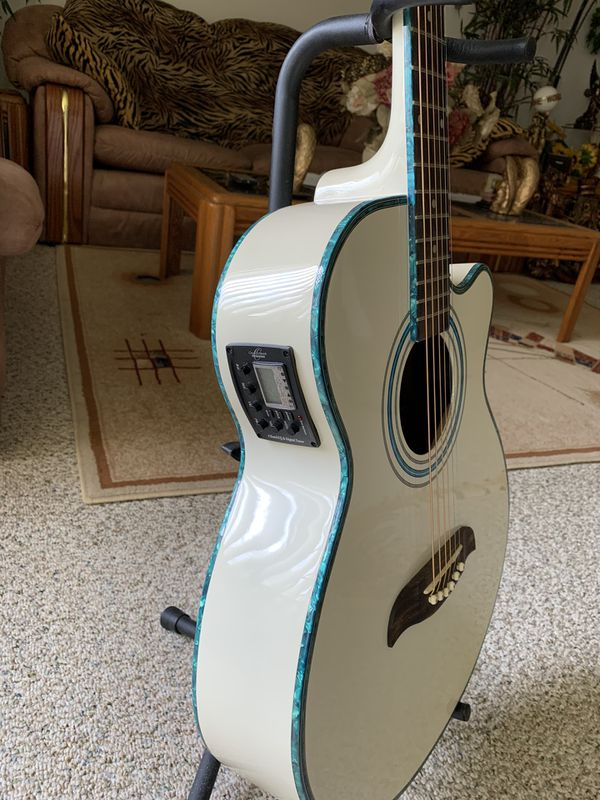 oscar schmidt by washburn acoustic and electric guitar