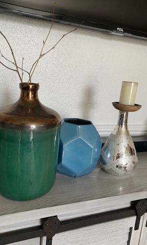 Decorations vases and candle holders for Sale in Murrieta, CA