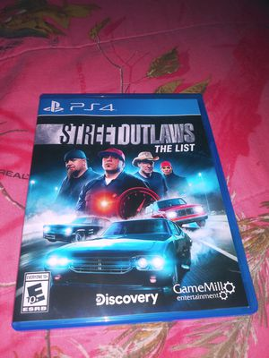 Street outlaws the list ps4 game for Sale in Cedar Rapids, IA