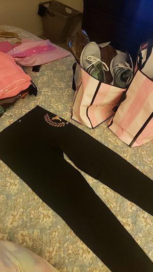 Victoria secret pink black leggings size m new for Sale in Riverside, CA