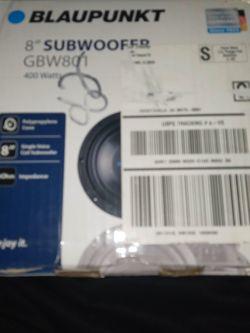 "Brandnew 8"" Subwoofer Blaupunkt for Sale in Jonesboro,  GA"
