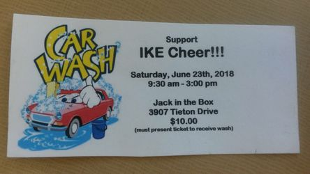 Eisenhower cheer car wash tickets!! for Sale in Selah,  WA