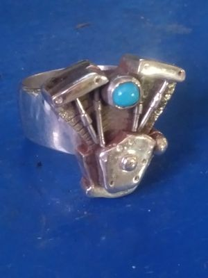 Handmade Sterling Silver Harley Davidson Ring for Sale in Payson, AZ