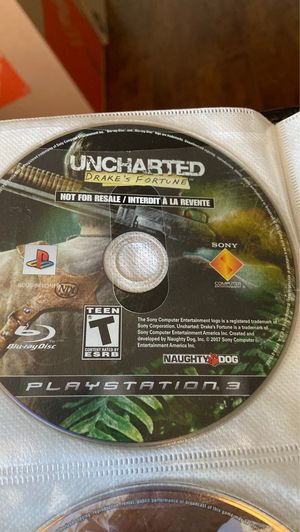 Uncharted 1, 2, 3 PS3 collection for Sale in Lincoln Acres, CA