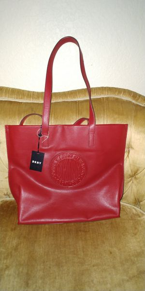 DKNY Red leather tote for Sale in Fort Worth, TX