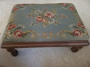 Antique needlepoint foot stool for Sale in Zionsville, IN