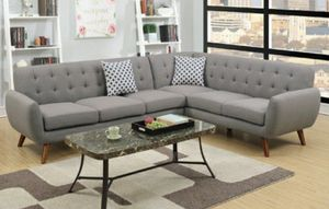 Grey sectional sofa mid century modern for Sale in Long Beach, CA