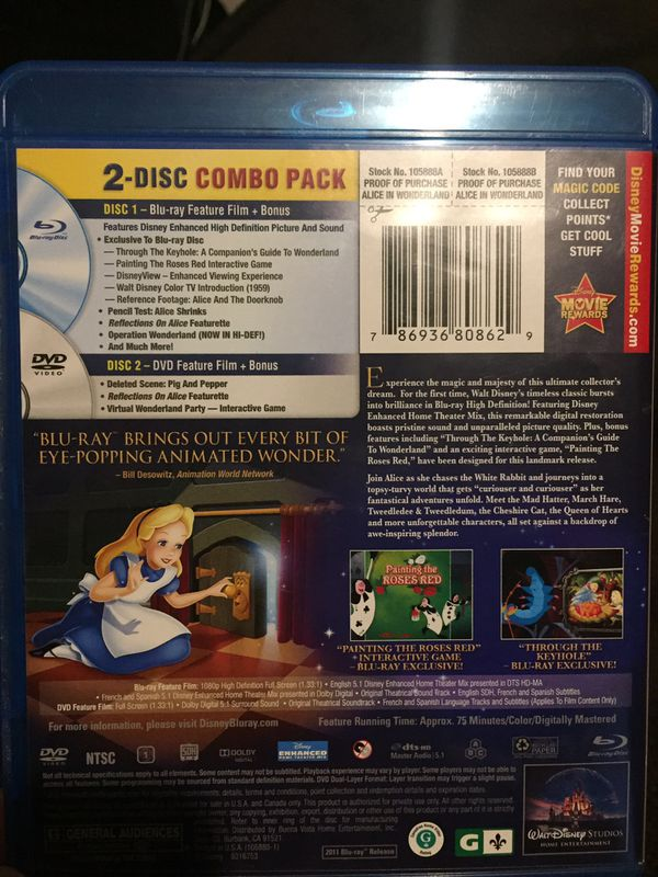 Alice In Wonderland (60th Anniversary Edition) Blu-ray