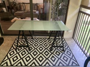 Glass Top Computer Table for Sale in Pompano Beach, FL