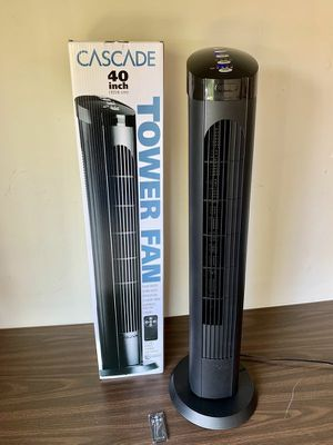 $20 each 40 inches spinning cascade fan open box tower fan oscillation timer quiet for Sale in El Monte, CA