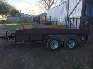 Utility trailer 2013 blue title 7'x12' for Sale in Houston, TX
