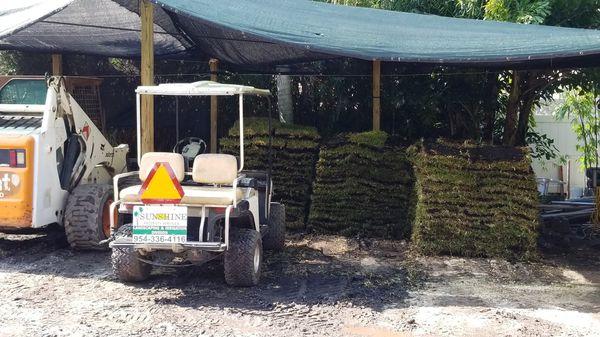 Fresh Cut Sod Sand Soil Mulch Rock Landscaping Supplies