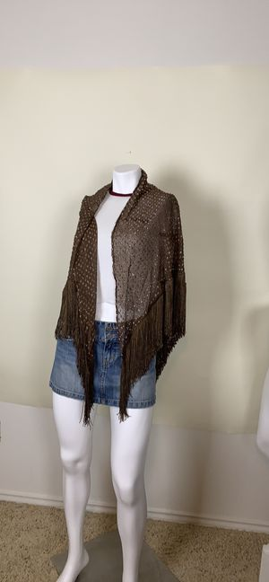 Brown sparkle gypsy shawl os Halloween for Sale in Austin, TX