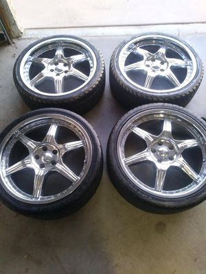 """Size 18"""" rims with new tires! for Sale in Los Angeles, CA"""