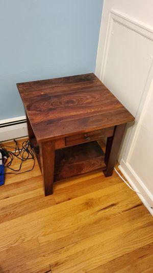 Craftsman Wood End Table for Sale in Denver, CO