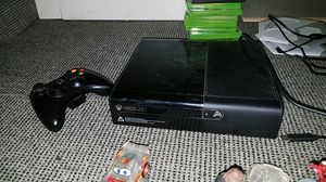 Xbox 360 with lot game xfinty set with , characters with two remotes and it works perfectly fine for Sale in Quincy, IL