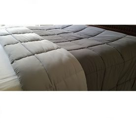 KING Reversible All Season Quilted Comforter Bedspread - Gray for Sale in Cape Coral,  FL