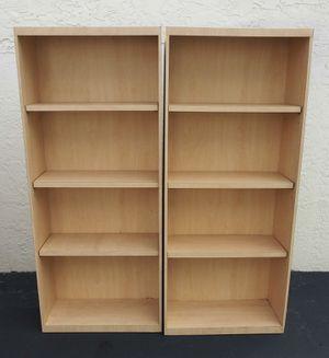 Custom Pair of Bookcase Bookshelves Shelves for Sale in Lake Worth, FL