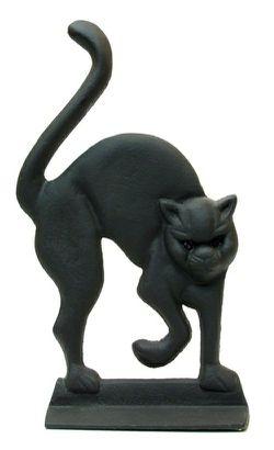"Cast Iron Black Cat Door Stop Large cast iron black cat doorstop12tall x 7"" wide $26.95 for Sale in Creve Coeur,  IL"