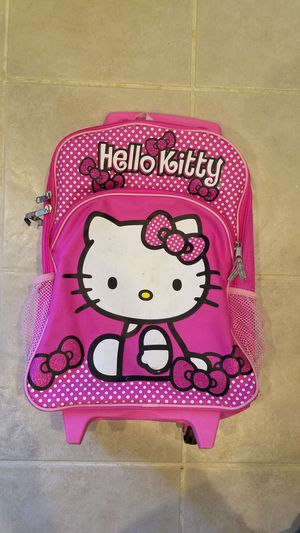 Hello Kitty backpack on wheels for Sale in Springfield, VA