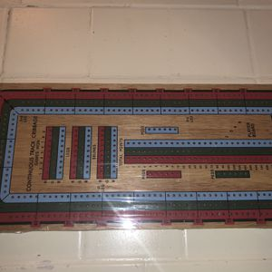 New Large Three Track Color Cribbage Board Game for Sale in Las Vegas, NV