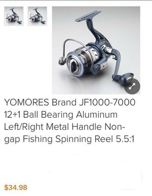 Yomores Brand JF1000-7000 12+1 Ball Bearing Aluminium Left/Right Metal Handle Non-Gap Fishing Spining Reel 5.5:2 for Sale in South Gate, CA