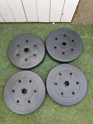 Used weights. 4x 15. 60 pounds total for Sale in Garden Grove, CA