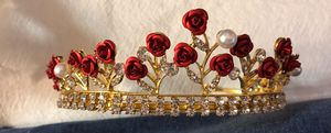 Wedding or Quinceanera Tiara with Red Roses for Sale in San Antonio, TX