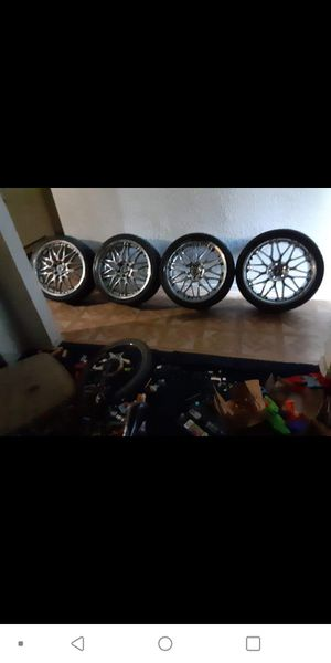 Got a set of rims with the vogue tires/inch lips for Sale in Arlington, TX