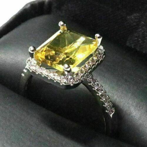Halo Ring Women Wedding Engagement Jewelry 👩