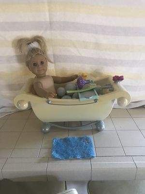 American girl doll and bathtub and accessories for Sale in Torrance, CA