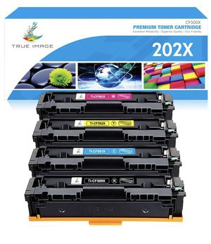True Image Compatible Toner Cartridge Replacement for HP 202X CF500X CF500A 202A HP Color Laserjet Pro MFP M281fdw M281cdw M254dw M281fdn M254 M281 T for Sale in Brooklyn, NY