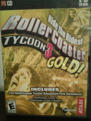 Roller Coaster TYCOON 3 GOLD! ATARI PC CD for Sale in Pasco, WA