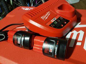 Milwaukee battery kit for Sale in Glendale, AZ