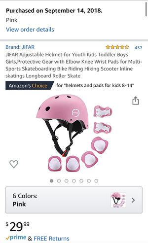 JIFAR Protective Gear for Multi-Sports, PINK for Sale in North Haven, CT