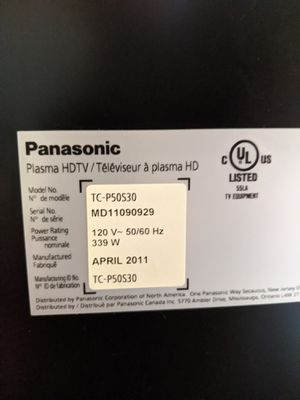 50 inch Panasonic Plasma TV for Sale in Dallas, TX