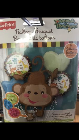 Animal baby shower balloon bouquet for Sale in Waterbury, CT